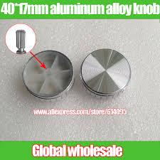 <b>2pcs</b> silver 40*17mm aluminum alloy <b>knob</b> cap / audio <b>volume</b> ...
