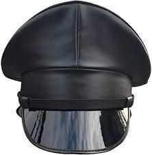 Joyplay Men Peaked <b>Military</b> Police Officer <b>Cap PU Leather</b> Club ...