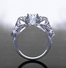 'November Verse' 1.20ct Natural White <b>Diamond</b> Gold <b>Unicorn</b> Ring
