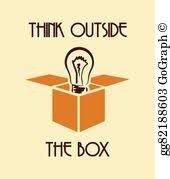 <b>Think Outside</b> The Box Clip Art - Royalty Free - GoGraph