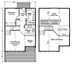 images about house plans on Pinterest   Floor Plans  Hunting    Small Cottage Floor Plans   Small Hunting Cabin Floor Plans