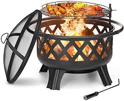 KINGSO 2-in-1 Outdoor Fire Pit with Cooking Grate ... - Amazon.com