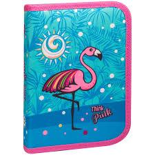 """<b>Пенал</b> 1 отделение, 200*140*40 <b>Berlingo</b> """"<b>Flamingo</b>"""", полиэстер"""