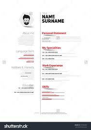 mini st resume template inspiration shopgrat resume sample sample mini st cv resume template simple design vector