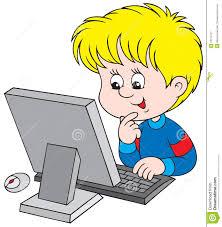Resultado de imagem para clipart alunos computador