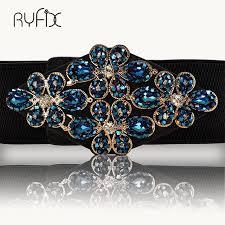 <b>Female Braided Belt Rhinestone</b> Elastic Women Belt Colorful ...