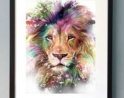 <b>Lion art</b> | Etsy