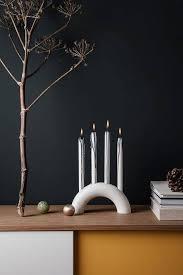 <b>Подсвечник Bow</b> Candle Holder white FERM LIVING