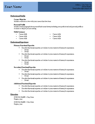 resume template word 2007 format resume template word 2007