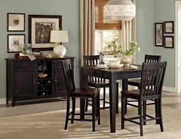 tabacon counter height dining table wine: homelegance three falls counter height dining set with storage two tone dark brownblack