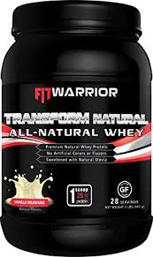 TRANSFORM 100% ALL-<b>NATURAL Whey Protein</b> Powder [Vanilla ...