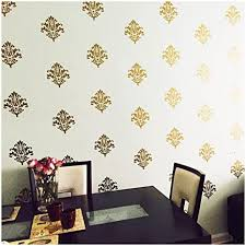Damask set of 18 vinyl wall <b>decal</b> self adhesive wall <b>pattern stickers</b> ...