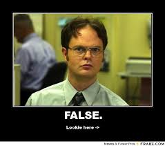 Dwight Schrute False - The Office Meme Generator - Captionator ... via Relatably.com