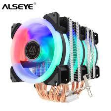 ALSEYE <b>ST 90</b> CPU Cooler 6 Heatpipe with RGB 4pin CPU Fan ...