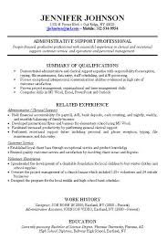 Resume Examples. Sample Career Change Resumes: sample-career ... sample resume with job experience with administrative support professional and summary of qualifications or work history