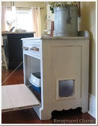 repurposed kitty loo side view cat litter box furniture diy