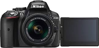 Nikon <b>D5300</b> DSLR Camera in Black with 18-55mm AF-P VR Lens