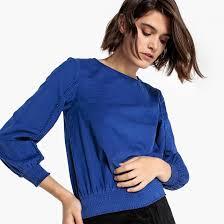 <b>Блузка</b> из вельвета с тесьмой на рукавах <b>La Redoute</b> Collections ...