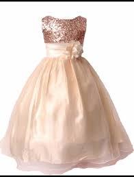 Sequined rose gold flower <b>girl dress</b> … | <b>Weddings</b> in 2019…