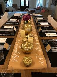 <b>Calligraphy</b> Thanksgiving Table Runner Hand Lettered Kraft | Etsy ...
