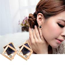 <b>European and American Fashion</b> Simple Earrings Geometric Hollow ...