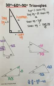 best ideas about special right triangle special right triangles interactive notebook page for 30 60 90 triangles