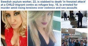 Image result for Alexandra Mezher victim murdered migrant crisis
