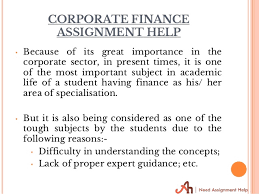 Corporate Finance Assignment Help   Assignment Kingdom