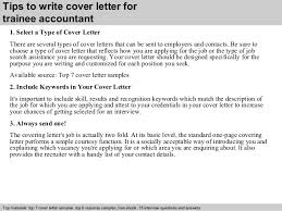 trainee accountant cover letter      tips to write cover letter for trainee accountant