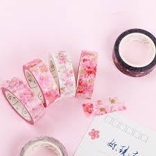 Japanese flower paper washi tape set <b>Pink</b> sakura decoration ...