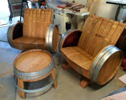 the crew 2 wine barrel chairs 1 table free shipping in the phoenix valley authentic jim beam whiskey barrel table