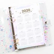 <b>Agenda 2020 Planner</b> Organizer <b>A5</b> Notebook PU Cover Notepad ...