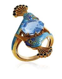 An <b>Art Nouveau</b> sapphire and enamel <b>ring</b>, by René Lalique ...