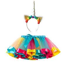 Buy FENICAL <b>Unicorn</b> Horn Headband <b>Rainbow Tutu Skirt</b> Kids ...