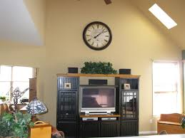 chic large wall decorations living room: living room vaulted ceiling paint color backyard fire pit with