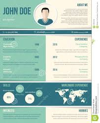 modern resume cv template color elements stock illustration modern resume cv template color elements