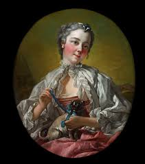 A young lady holding a <b>pug dog</b> - François Boucher — Google Arts ...