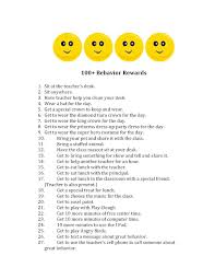behavior rewards behavior rewards classroom and reward ideas classroom management behavior rewards tired of the treasure box or candy here s a list of over 100 intrinsic or non gift type rewards for great