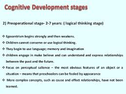 Piaget cognitive development theory SlideShare            Preoperational