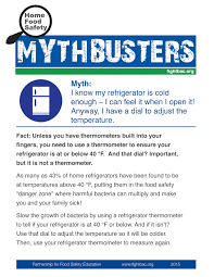 home food safety mythbusters doesn t happen in the refrigerator it s too cold in there for bacteria to survive get the fact flyer jpeg myth 3 i left some food out all day