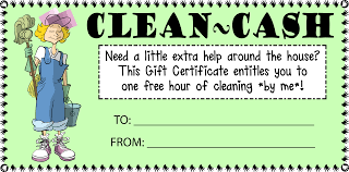 house cleaning cash gift certificate customize template image
