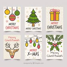 Free Vector | <b>Christmas</b> cards with drawings