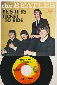 best images about the beatles collectibles apple 1965 the beatles single ticket to ride was released on capitol records in the us the single s label stated that the song was from the upcoming