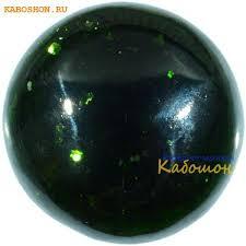 <b>Авантюрин зелёный</b> (искусственный) <b>кабошон</b>