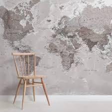 <b>World Map</b> Wallpaper | Murals Wallpaper