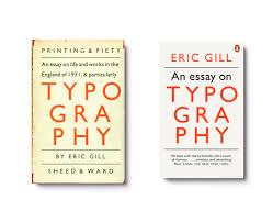 design jim stoddart an essay on typography by eric gill left 1931 hardback design