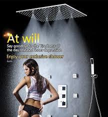<b>SKY RAIN Luxury</b> 20 Inch Ceiling Mounted Shower Head ...