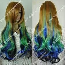 <b>Free</b> lolita green <b>Shipping</b> multi-colour lolita <b>New</b> curly blue brown ...
