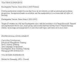 preschool teacher resume preschool teacher cover letter