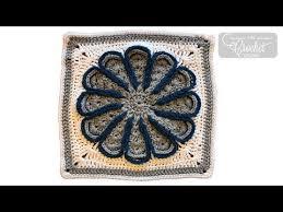 Crochet Flora Afghan - Chrysanthemum Square - YouTube
